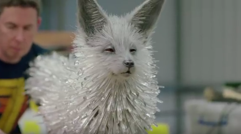 how they made the crystal foxes in �star wars the last